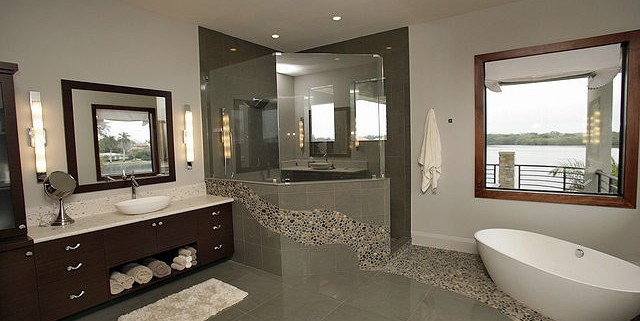 Orlando Painters - painting a modern bathroom